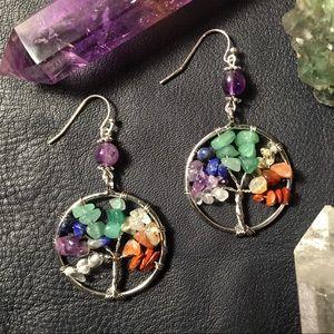 Jewelry - 💥Flash Sale💥🌹NWT Tree of life chakra earrings